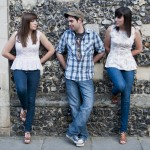 Orfila, Saturday 01 October 2016. Superb three part harmonies with a Folk/Country/Pop feel from siblings Abi, Louise and Matt Orfila.